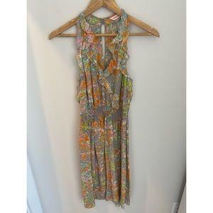 Rebecca Taylor silk sleeveless smocked waist dress